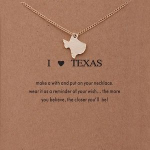 Jewelry - Texas Clavicle Charm Necklace Gold